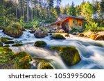 austria landscape with... | Shutterstock . vector #1053995006