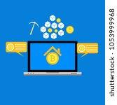 blockhain scheme  mining crypto ... | Shutterstock .eps vector #1053999968