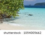 beautiful beach  seascape clear ... | Shutterstock . vector #1054005662