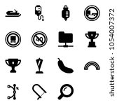 solid vector icon set  ... | Shutterstock .eps vector #1054007372