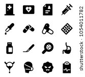 solid vector icon set   first... | Shutterstock .eps vector #1054011782