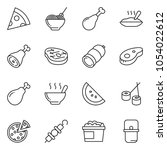 thin line icon set   sausage... | Shutterstock .eps vector #1054022612