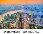shanghai city skyline  view of... | Shutterstock . vector #1054022762