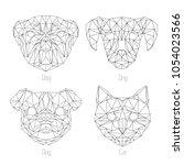 set of isolated  poligonal...   Shutterstock .eps vector #1054023566