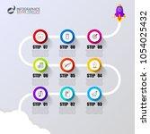 timeline. business concept.... | Shutterstock .eps vector #1054025432