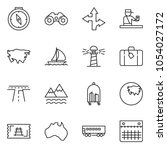 thin line icon set   sail boat... | Shutterstock .eps vector #1054027172