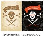 pirate children's party. jolly...   Shutterstock .eps vector #1054030772