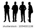 vector silhouettes of men ... | Shutterstock .eps vector #1054031138