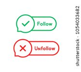 thin line follow and unfollow...