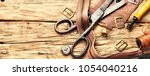 working tools and cut out... | Shutterstock . vector #1054040216