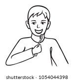 illustration on white... | Shutterstock .eps vector #1054044398