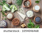 food rich in calcium | Shutterstock . vector #1054046468
