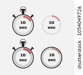 timer 10 seconds on gray... | Shutterstock .eps vector #1054049726
