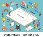 business consulting flat... | Shutterstock .eps vector #1054051232