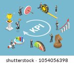 key performance indicator flat... | Shutterstock . vector #1054056398