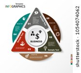infographic  geometric graph ... | Shutterstock .eps vector #1054074062
