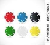 illustration of poker chips... | Shutterstock .eps vector #1054078085