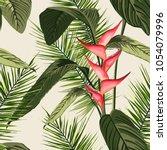 vector seamless tropical... | Shutterstock .eps vector #1054079996