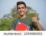 hispanic male teen military...   Shutterstock . vector #1054080302