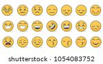 set of emoticon vector isolated ... | Shutterstock .eps vector #1054083752