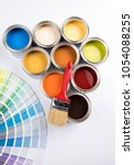 paint cans color palette | Shutterstock . vector #1054088255