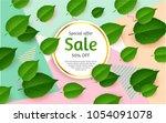 fresh spring background for... | Shutterstock .eps vector #1054091078