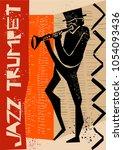 creative vector of jazz trumpet ... | Shutterstock .eps vector #1054093436