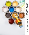 paint can with a paintbrush | Shutterstock . vector #1054095446