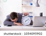 businessman employee in urgency ... | Shutterstock . vector #1054095902