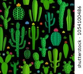 vector home cactus seamless... | Shutterstock .eps vector #1054100486