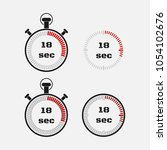 timer 18 seconds on gray... | Shutterstock .eps vector #1054102676