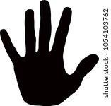 a hand silhouette vector | Shutterstock .eps vector #1054103762