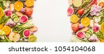 colorful fruits and vegetables... | Shutterstock . vector #1054104068