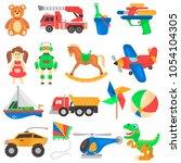 set of different children's... | Shutterstock .eps vector #1054104305