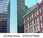 new  modern and old  heritage...   Shutterstock . vector #1054107866