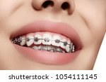 beautiful macro shot of white... | Shutterstock . vector #1054111145