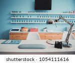 modern table with nails color... | Shutterstock . vector #1054111616
