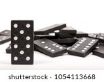 One Black Wooden Domino Chain...