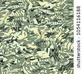 vector pattern in green yellow... | Shutterstock .eps vector #1054116188