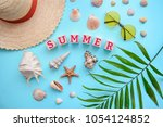 beautiful picture greeting card ... | Shutterstock . vector #1054124852