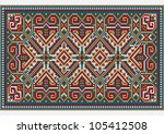design ethnic rug in bright... | Shutterstock .eps vector #105412508