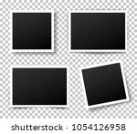 set of photo frame. retro photo ... | Shutterstock .eps vector #1054126958