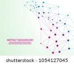 linear connections. science ... | Shutterstock .eps vector #1054127045