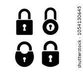 old door lock vector icon set... | Shutterstock .eps vector #1054130645