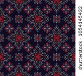 vector damask seamless pattern | Shutterstock .eps vector #1054145432