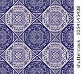 vector damask seamless pattern | Shutterstock .eps vector #1054145438