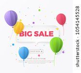 big sale banner with white... | Shutterstock .eps vector #1054145528