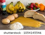 group of carbohydrates for diet ... | Shutterstock . vector #1054145546
