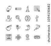 pack icons set with chip ...