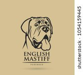 english mastiff dog   isolated... | Shutterstock .eps vector #1054159445